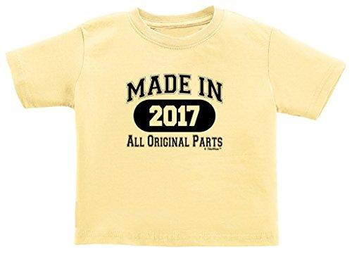 Toddler Birthday Gift Newborn Birthday or 1st Birthday Gift Made 2017 Toddler T-Shirt 3T Banana