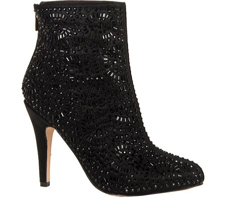 Nicole Lorraine Fabric Beaded Women's Black Boot Polyurethane Ankle Lauren TE0dE