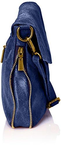 Marina Cross Coquelicot Bags Cuir Rossini Indigo body Women's Blue Ptrgtzx
