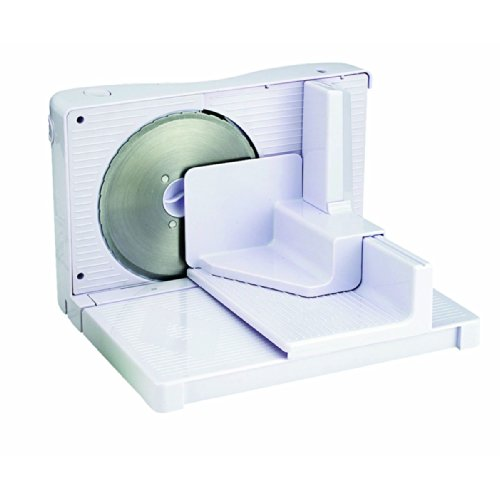 Electric Adjustable Compact Food Slicer with Tray and Fence