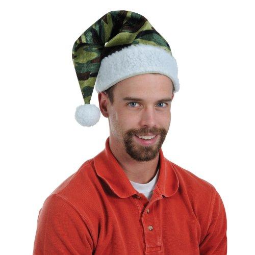 [Velvet Camo Santa Hat w/Plush Trim Party Accessory (1 count) (1/Pkg)] (Cheap Santa Hats)
