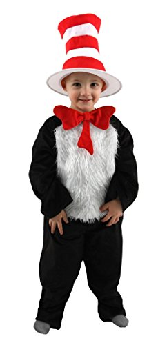 elope Dr. Seuss Cat in the Hat Deluxe Infant Costume (12-18 (Dr Seuss Cat In The Hat Costume)