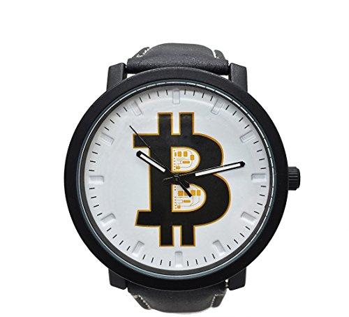 Bitcoin Watch   Mens Wrist Watch   Classic Black Leather   Bitcoin Gift   Bitcoin And Ethereum Coin   Crypto To The Moon