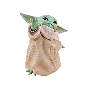 Baby Yoda Collection Figure Replica Collection Adornment, Mandalorian 5.9 inch The Child Yoda Doll with Yoda Stickers