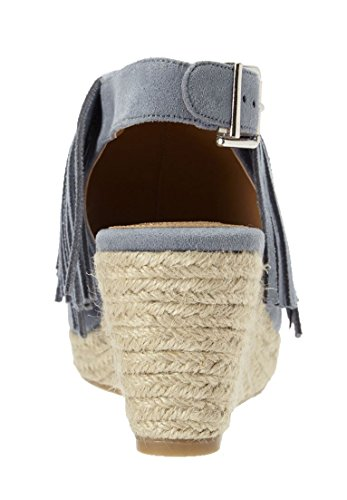 Comfortview Femmes Larges Diane Espadrille Sandales Chambray