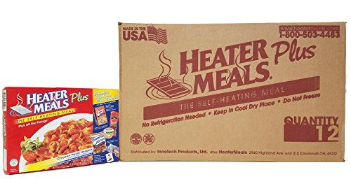 Heater Meals Plus Chicken Pasta Italiana (Pack of 12) Complete Self Heating Meal Ready to Eat - Rigatoni Meal