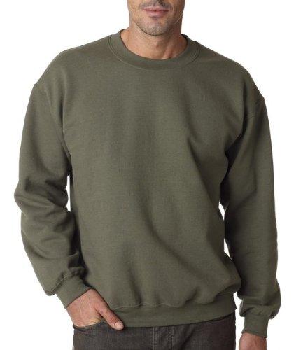Polyester Blend Green - Gildan Men's Heavy Blend Crewneck Sweatshirt - Medium - Military Green