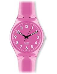 Swatch Womens GP128 Pink Plastic Watch