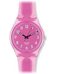 Swatch Womens GP128 Pink Plastic Watch