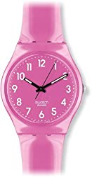 Swatch Women's GP128 Pink Plastic Watch