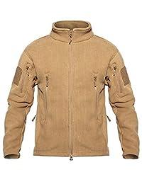 YFNT Men's Tactical Fleece Jacket Full Zip Up Winter Warm Thermal Outwear Coat