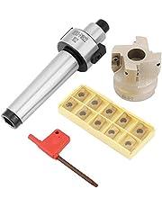 End Milling Cutter, Carbide Milling Cutter Milling Cutter Holder, Extended Mt3-Fmb22 Tool Holder Extended 400R-50-22 End Face Milling Cutter 10 Apmt1604 CNC Hard Alloy Blade
