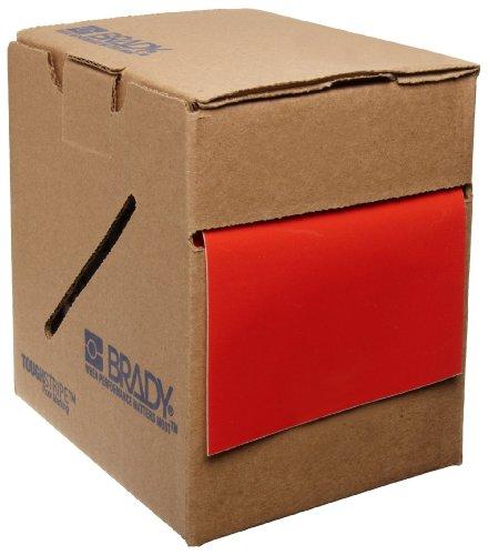 Aisle Marking Red Tape (Brady ToughStripe Nonabrasive Floor Marking Tape, 100' Length, 4