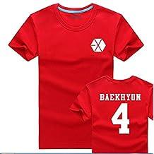 Splendid-Dream Unisex Summer EXO Loose short-sleeved T-shirt B