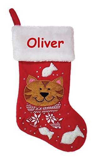 Personalized Pet Christmas Stocking - 19 Inches (Yorkie Christmas Stocking)