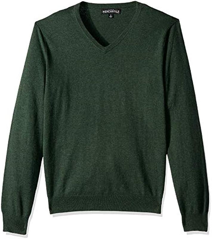 J.Crew Mercantile męska bluza z długim rękawem z bawełny z dekoltem w serek.: Odzież