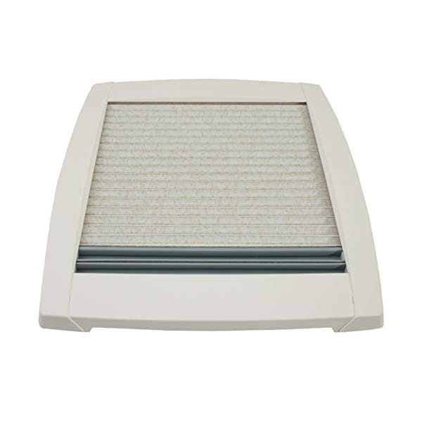 417NMNFe6cL MPK VisionStar M pro getönte Klarglas Dachluke Dachfenster Dachhaube 40 x 40 cm in perlweiß