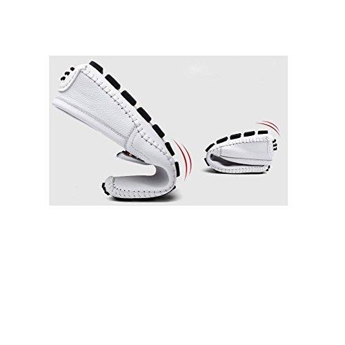 DHFUD Hommes Jeunes Occasionnels Paresseux Conduite Extérieur Chaussures en Cuir Brown aHGXlRLZ