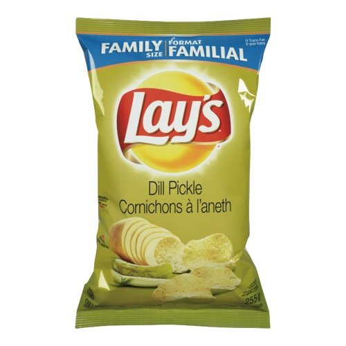 2 Lay's Dill Pickle and 2 Lay's Ketchup, Pack of 4