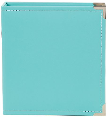 Simple Stories Faux Leather Binder, 6 by 8-Inch, Teal (Binder Embellishments)