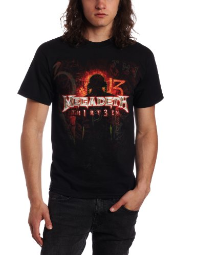 FEA Merchandising – Camiseta de Megadeth Th1rt3en para hombre, color negro, talla Large