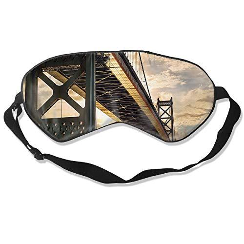 XJOFKJTI Ben Franklin Bridge Business Sleep Mask Women & Men with Adjustable Straps Sleeping 8.26