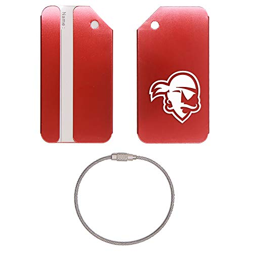 SOUTH ORANGE NEW JERSEY BASKETBALL SETON HALL PIRATES STAINLESS STEEL - ENGRAVED LUGGAGE TAG - SET OF 2 (SCARLET RED) - FOR ANY TYPE OF - University Hall On Set Basketball