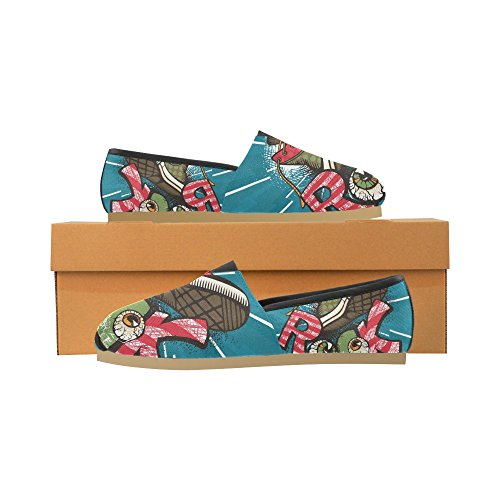 InterestPrint Rock and Roll music hipster Loafers Casual Shoes for Women Grunge Rock EgvJ08tGMb