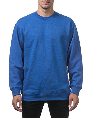 Pro Club Men's Heavyweight 13oz Crew Neck Fleece Pullover Sweatshirt, 7X-Large, Royal (Pro Club Sweatshirts)