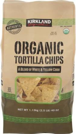 Organic Kirkland Signature Tortilla Chips 40oz