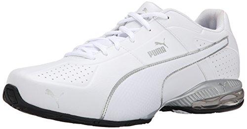PUMA Men's Cell Surin 2 Cross-Training Shoe, White/Silver, 8 M US - White Cross Training Sneakers