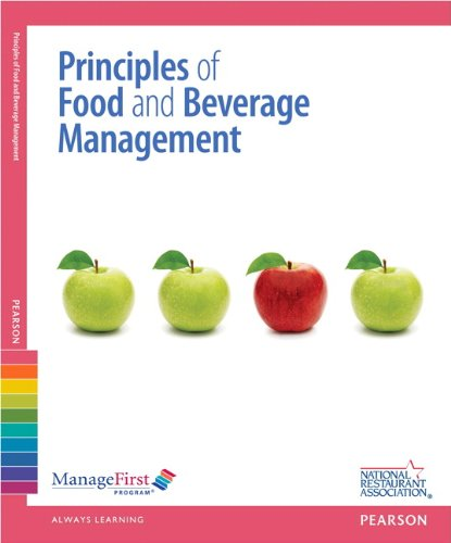 ManageFirst: Principles of Food and Beverage Management with Answer Sheet (2nd Edition) (Managefirst Program) by National Restaurant Association