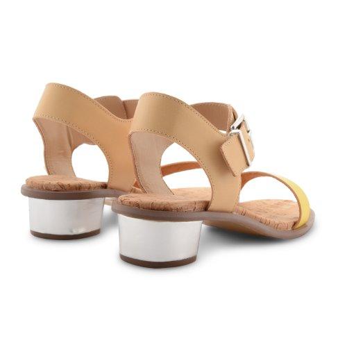 Dolcis - Sandalias de vestir para mujer Beige beige Beige - Beige Yellow