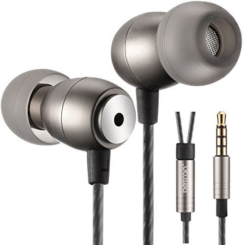 Betron GLD100 Earphones Headphones High Definition, in-Ear, Tangle Free, Noise Isolating, Bass Driven Sound for iPhone, iPod, iPad, Samsung, Tablets and Mp3 Players (Black Without Remote)