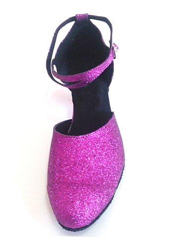 ShangYi Maßgefertigter Absatz - Glitter - Modern/Standard-Tanz Schuhe - Damen , purple-us2.5 / eu32 / uk1 / cn31 , purple-us2.5 / eu32 / uk1 / cn31