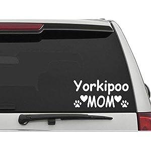 "Decal Dan - ""Yorkipoo Mom Vinyl Die Cut Car Truck Window Decal Sticker Laptop 3"