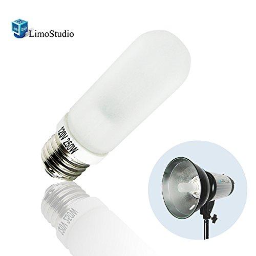 LimoStudio JDD 250W Frost Type E26 Base Flash Tube Lamp 120 Volt Light Bulb for Flash Strobe Light, Monolight, Barndoor Light, AGG1795 by LimoStudio