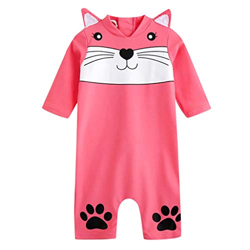TEVEQ Kid Baby Girl Boy 3D Cartoon One Piece Beach Swimwear Swimsuit Bathing Clothes Pink