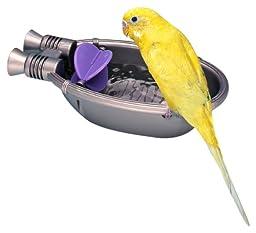 Pennplax Rocket Ship Bath Tub for Pet Birds