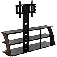 Sandberg Furniture Abigail TV Stand with Mount, Walnut/Black
