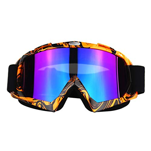 MoGist Ski Snowboard Goggles with UV400 Protection, OTG Skiing Snowboarding Goggles of Dual Lens for Men,Women and Kids OTG Ski Goggles, Anti-Fog, Anti-Glare,Windproof, Helmet Compatible (Style-1)