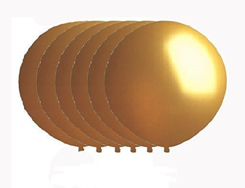 36 Inch Latex Balloon Metallic Gold (Premium Helium Quality) Pkg/6 by NYKKOLA