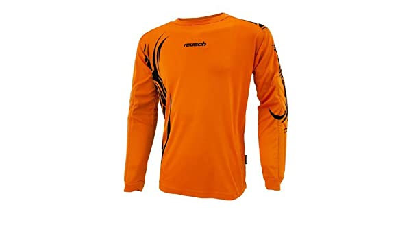 01161be6597 Amazon.com : Reusch Youth Bakaru Longsleeve Goalkeeper Jersey (Large,  Orange/Black) : Soccer Jerseys : Sports & Outdoors