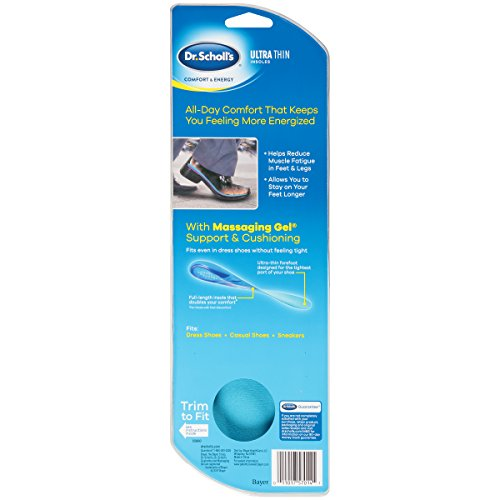 Dr. Scholl's Comfort and Energy Ultra Thin Insoles for Men, 1 Pair, Size 8-13 by Dr. Scholl's (Image #1)