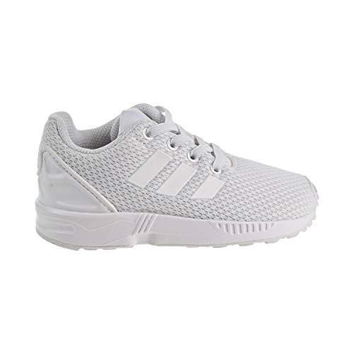 san francisco 12c8b 8deaf Galleon - Adidas Originals Boys  ZX Flux EL I Running Shoe, White, 8 Medium  US Toddler