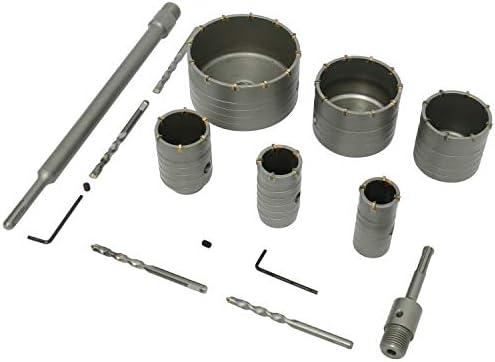 40mm Wall Hole Saw Centre Drill Bit 110mm Flat Shank Kit For Cement Bricks Wall