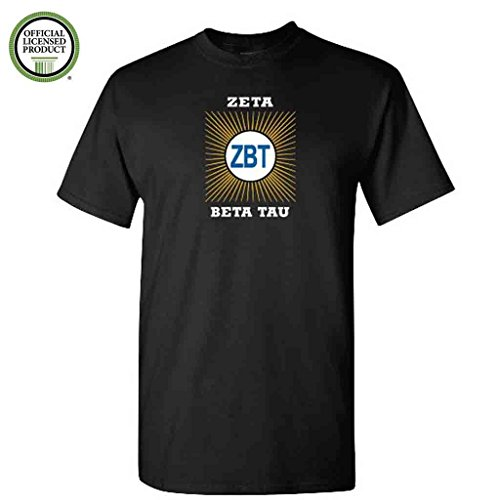 (Zeta Beta Tau Short Sleeve Tshirt- Burst Design - ZBT Shirt- Great Shirts For Zeta Beta Tau Rush (Large, Black))