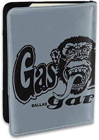 Gas Monkey パスポートケース メンズ 男女兼用 パスポートカバー パスポート用カバー パスポートバッグ ポーチ 6.5インチ高級PUレザー 三つのカードケース 家族 国内海外旅行用品 多機能