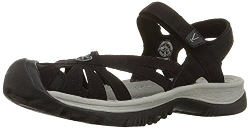 KEEN Womens Rose Sandal, Black/Neutral Gray, 35 B(M) EU/2.5 B(M) UK
