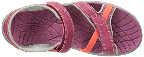 Keen Mujeres Aster Sandal Beet Red / Neutral Gray